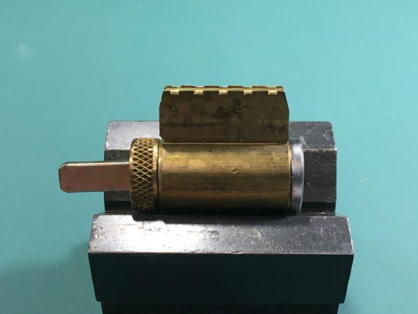 A key-in-knob cylinder.
