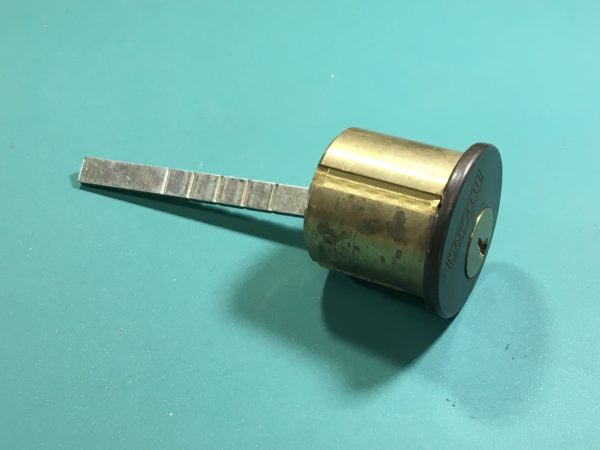 A rim cylinder.